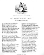 Slavery Framed Prints - Slavery. An Abolitionist Poem Entitled Framed Print by Everett