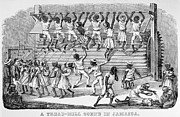 Chain Gang Prints - Slavery: Tread Mill, 1834 Print by Granger