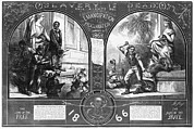 Punishment Prints - Slavery, Two Illustrations Showing Print by Everett