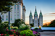 Mormon Temple Photo Acrylic Prints - SlC Temple JS Building Acrylic Print by La Rae  Roberts