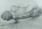 Anatomy Drawings - Sleep by Cynthia Harvey