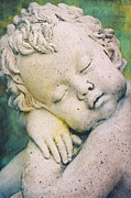 Childlike Metal Prints - Sleeping Angel Metal Print by Angela Doelling AD DESIGN Photo and PhotoArt