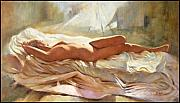 Nudes Pastels - Sleeping Arrangement by Pauline Adair