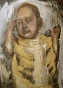 Surrealism Paintings - Sleeping Baby in Golden Cloth by Derek Van Derven