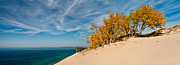 Sand Dunes Framed Prints - Sleeping Bear Overlook Framed Print by Larry Carr