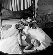 Headboard Photo Posters - Sleeping Beauties Poster by Thurston Hopkins