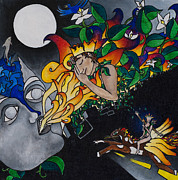Warrior Goddess Paintings - Sleeping Beauty by Eliza Furmansky