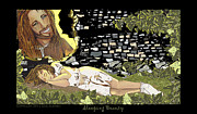 Smiling Jesus Art - Sleeping Beauty by Lisa  Albinus