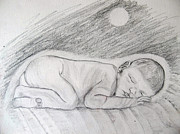Spiritual Drawings Drawings Originals - Sleeping Beauty by Seshadri Sreenivasan