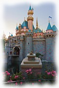 Disneyland Photos - Sleeping Beautys Castle Reflection Lake Disneyland by Heidi Smith