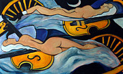 Boudoir Originals - Sleeping Cellists by Valerie Vescovi