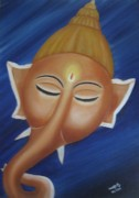 Usha Rai Art - Sleeping Ganesha by Usha Rai