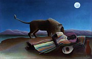 Conversation Piece Prints - Sleeping Gypsy Print by Pg Reproductions