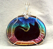 Wrap Jewelry - Sleeping Kitty by Linda Ray