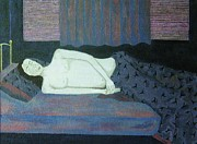 Covers Paintings - Sleeping Man by Reb Frost