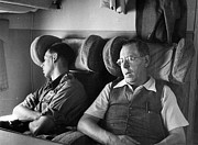 Young Men Prints - Sleeping Passengers Print by Haywood Magee