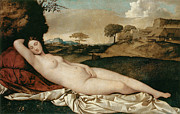 Greek Myth Prints - Sleeping Venus Print by Giorgione