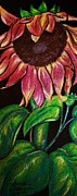 Sun Pastels Originals - Sleepy Sunflower by Sandi Dawn McWilliams