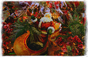 Santa Claus Prints - Sleigh Ride Print by Toni Hopper