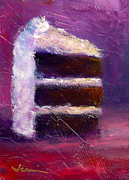 Cupcake Paintings - Slice Of Decadence by Jeannine Luke