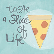 Cheese Posters - Slice of Life Poster by Linda Woods
