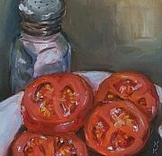 Kristine Kainer Paintings - Sliced and Salted by Kristine Kainer