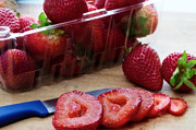 Sliced Prints - Sliced strawberries Print by Jarrod Erbe
