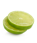 Sour Prints - Slices Of Fresh, Juicy, Freshly Cut Lime Print by Rosemary Calvert