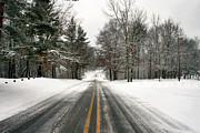 Winter Roads Photos - Slick Road by Richard Gregurich