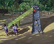 Uniforms Painting Prints - Slide Mysore Print by Andrew Macara