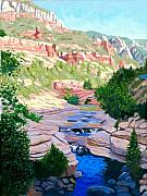 State Paintings - Slide Rock - Sedona by Steve Simon