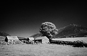 Outbuildings Framed Prints - Slieve Binnian And Surrounding Countryside County Down Northern Ireland Framed Print by Joe Fox