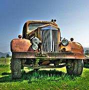 Old Trucks Digital Art - Slightly used by Peter Schumacher