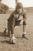 Pro Football Prints - Slingin Sammy Baugh 1937 Sepia Print by Padre Art