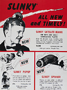 Fad Acrylic Prints - Slinky Advertisement, 1958 Acrylic Print by Granger