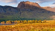 Wester Ross Prints - Slioch across the waters of Loch Maree Print by Maciej Markiewicz