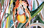 Jungle Drawings Originals - Slipper Foot Tropics by Mindy Newman