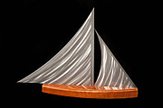 Sailing Sculpture Metal Prints - Sloop Metal Print by Rick Roth