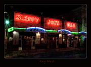 Street Shot Posters - Sloppy Joes Bar After Dark Key West Poster by John Stephens