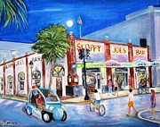 Key West Paintings - Sloppys Nightlife by Linda Cabrera