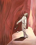 Slot Canyon Painting Originals - Slot Canyon by Sandi Snead