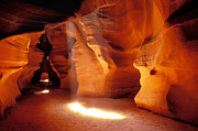 Sandstone Art - Slot canyon warm light by Garry Gay