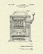 Controlled Prints - Slot Machine 1932 Patent Art Print by Prior Art Design