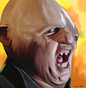 Yelling Painting Prints - Sloth from Goonies Print by Brett Hardin