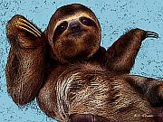 Sloth Photo Posters - Sloth Pop Art Poster by Bibi Romer