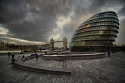 City Hall Prints - Slouching towards bedlam Print by Russell Styles