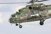 Hradec Prints - Slovak Air Force Mi-17 Hip In Digital Print by Timm Ziegenthaler