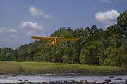 Piper Cub Prints - Slow And Low Print by Steven Richardson