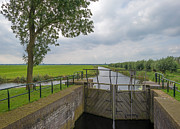 Eemnes Prints - Sluice in a canal in summer Print by Jan Marijs