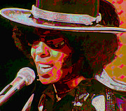 Microphone Digital Art Prints - Sly Stone Print by Byron Fli Walker